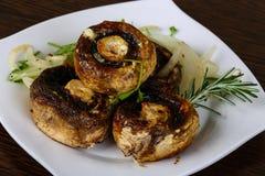 испеченные champignons Стоковые Фото