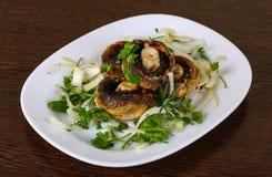испеченные champignons Стоковая Фотография RF