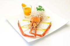 Испеченные crayfish на тарелке Стоковое Изображение RF