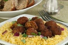 Испеченные falafels и рис Стоковое Изображение RF