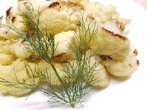 Испеченные Florets цветной капусты с Fenel стоковое фото rf