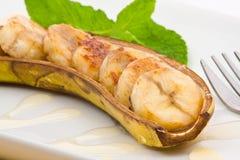 испеченный банан стоковое изображение