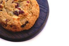 Испеченный вокруг печенья на белизне Стоковое Изображение