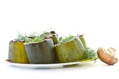 испеченный заполненный zucchini Стоковые Изображения RF