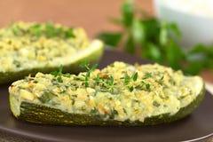 Испеченный заполненный Zucchini Стоковое Изображение RF