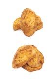 Испеченный изолированный состав куска картошки, Стоковые Фотографии RF