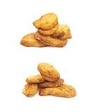 Испеченный изолированный состав куска картошки, Стоковое фото RF