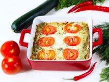 испеченный овощ пудинга стоковое изображение