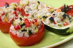 испеченный овощ томата риса Стоковое фото RF