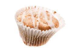 Испеченный домом вкусный торт чашки, изолированная булочка с замораживать на верхнем Стоковые Фото