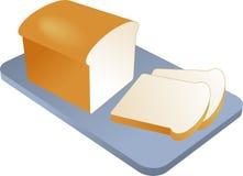 испеченный отрезанный хлеб бесплатная иллюстрация