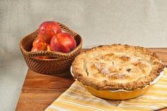 Испеченный пирог персика Стоковые Фото