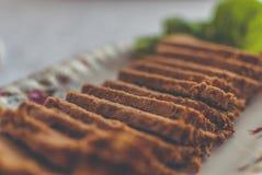 испеченный расстегай мяса Стоковые Фото