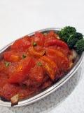 испеченный рис свинины chop стоковое фото