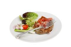 испеченный салат картошки вилки Стоковые Изображения