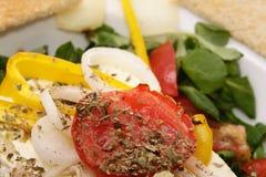 испеченный салат овечек feta сыра Стоковая Фотография RF