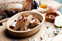 испеченный фазан Стоковая Фотография RF