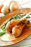 испеченный цыпленок Стоковое Изображение