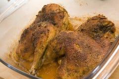 испеченный цыпленок Стоковые Изображения RF
