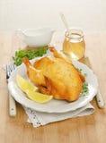 Испеченный цыпленок с лимоном Стоковое фото RF