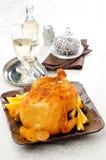 Испеченный цыпленок с померанцем Стоковые Фото