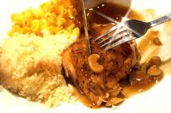 Испеченный цыпленок Стоковые Фото