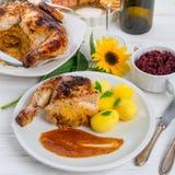 испеченный цыпленок Стоковая Фотография
