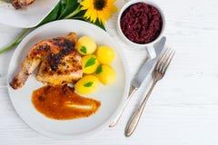 испеченный цыпленок Стоковое Фото