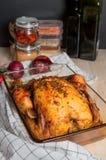испеченный цыпленок Стоковые Изображения