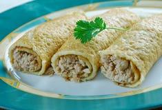 Испеченный цыпленок Taquitos Стоковое Фото