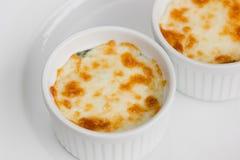 Испеченный шпинат с сыром Стоковая Фотография RF