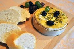 испеченный camembert Стоковое Фото