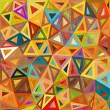 Испещрянная абстрактная предпосылка вектора треугольников Стоковые Изображения