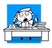 Исполнительный говорить на телефонах с клиентами иллюстрация штока