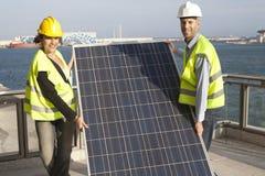 использование энергии солнечное Стоковые Фото