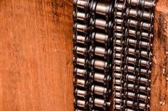 Используемая автомобильная цепь шестерни Стоковое фото RF