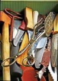используемая старая cutlery Стоковые Изображения