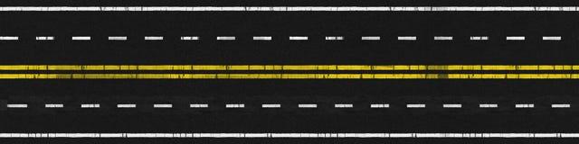 используемая дорога Стоковое Изображение RF