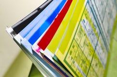 Используемые смещенные litographic плиты машины смещения Стоковые Изображения