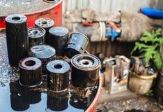 Используемые фильтры для масла для низкой глубины поля Стоковое Фото
