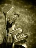 используемый комплект гольфа клубов старый грубый Стоковая Фотография RF