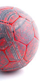 используемый красный цвет руки шарика Стоковая Фотография