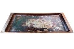 Используемый печь поднос Стоковые Фото