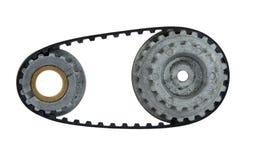используемый cogwheel пояса Стоковое Фото