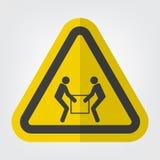Используйте изолят знака символа подъема 2 человеков на белой предпосылке, иллюстрации вектора иллюстрация штока