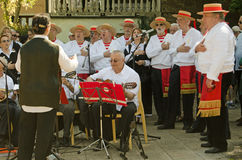 Исполнители народных песен на фестивале Венеции Стоковая Фотография RF