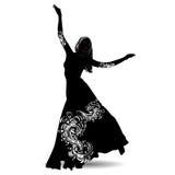 Исполнительница танца живота 2 силуэта Стоковое Изображение RF