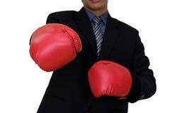 исполнительный бой бизнесмена в деле Стоковые Изображения RF