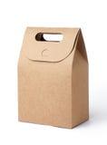 используемая бумага мешка коричневая сделанная Стоковые Фотографии RF