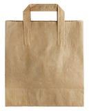 используемая бумага мешка коричневая сделанная Стоковая Фотография